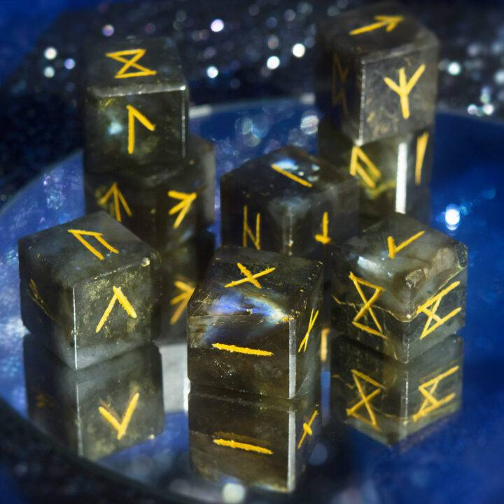 Labradorite Rune Dice