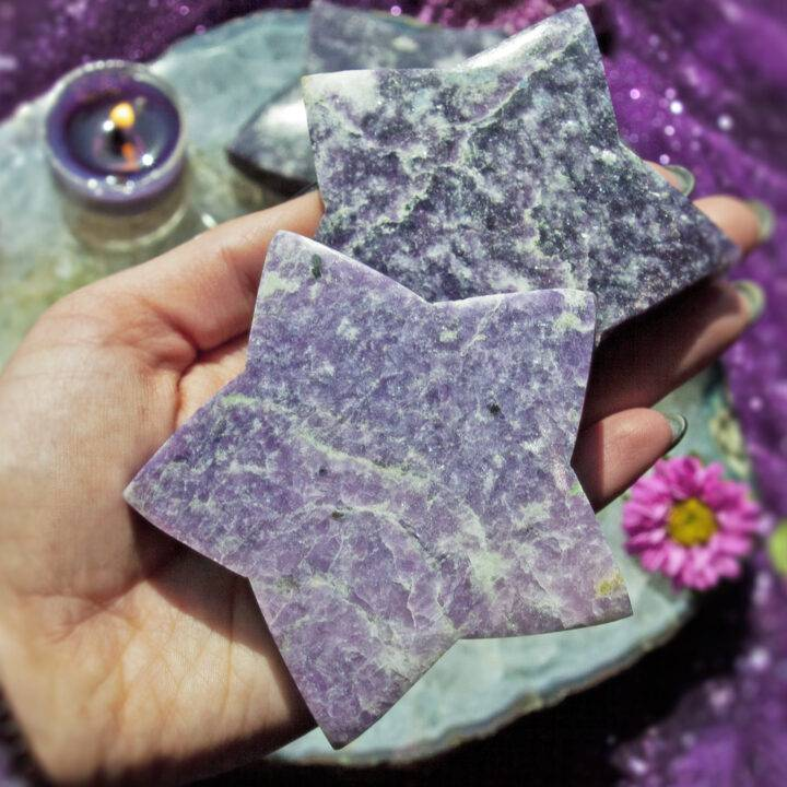 Lepidolite Star of Peace and Positivity