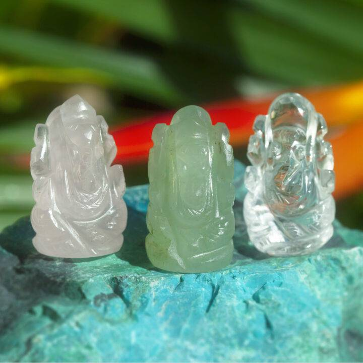 Mini Gemstone Ganesha
