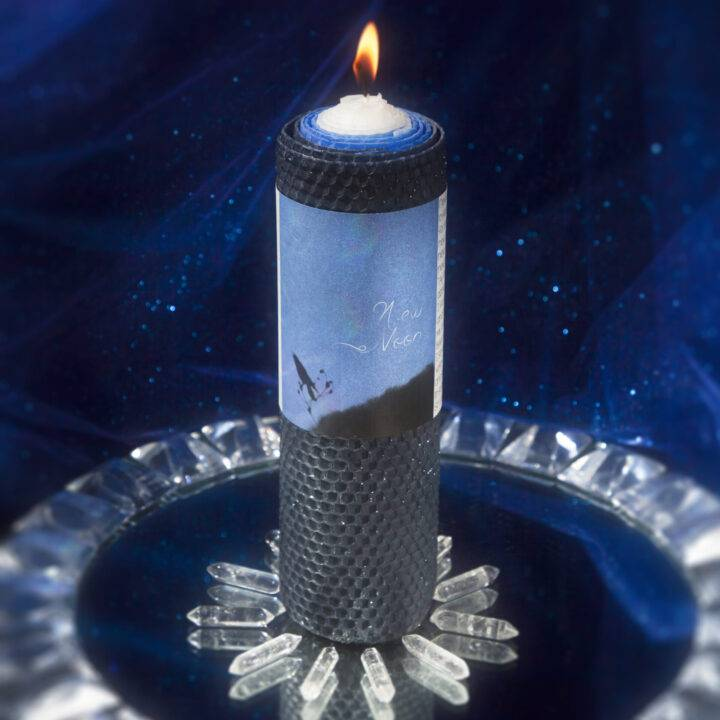New Moon Beeswax Intention Candle