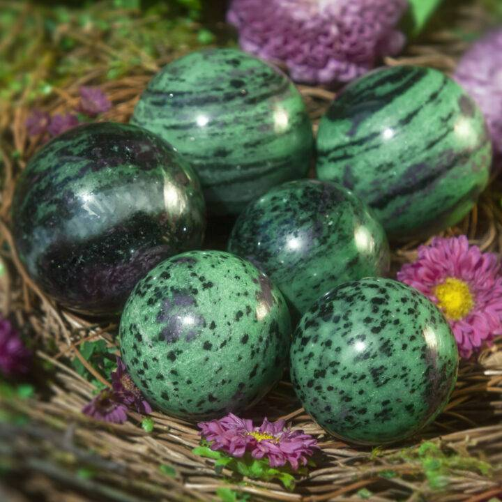 Ruby Zoisite Life Force Sphere