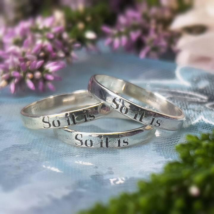 """""""So it is"""" Ring"""