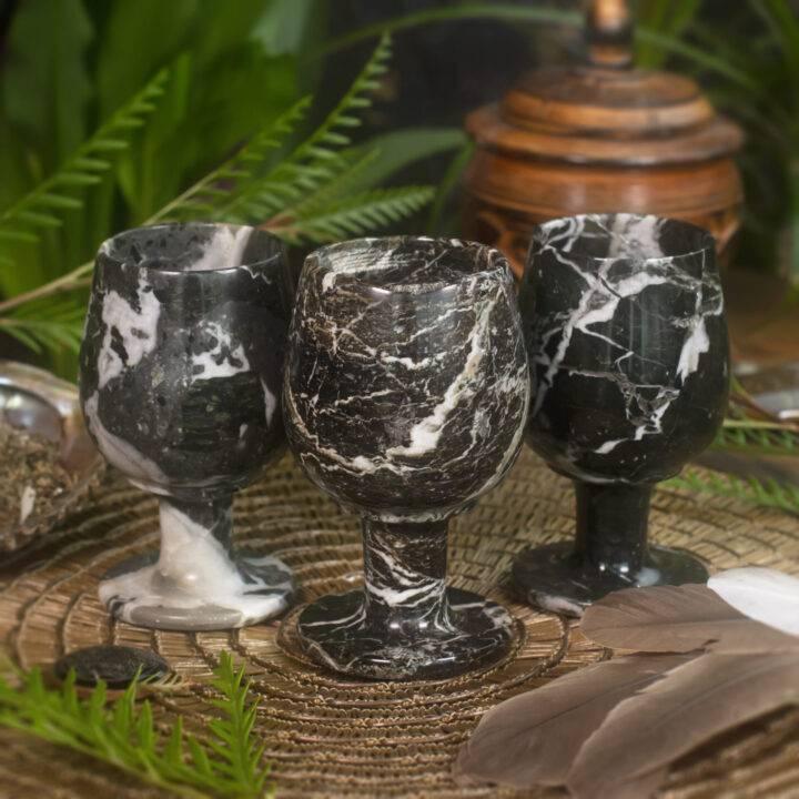 Zebra Calcite Ceremonial Cup