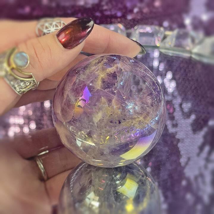 Aura Dream Amethyst Sphere