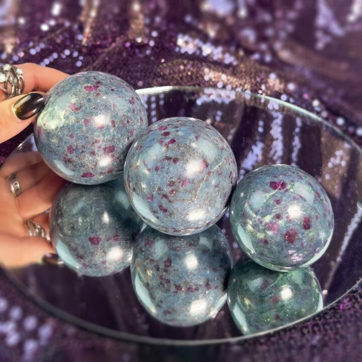 Ruby in Kyanite Sphere